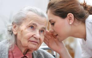 おばあちゃんと 女性