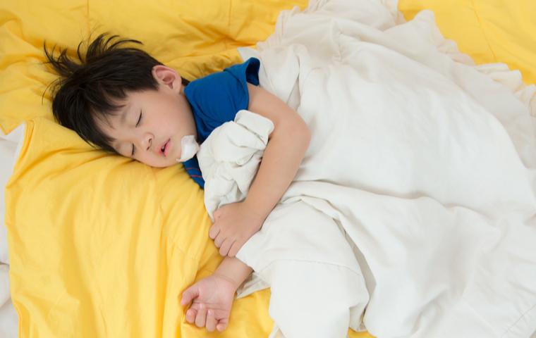 寝込んでる子供