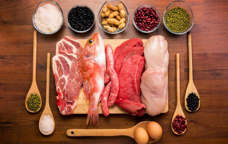 タンパク質を多くも食べ物