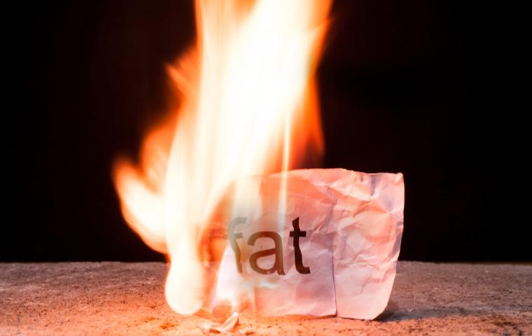 燃えている脂肪